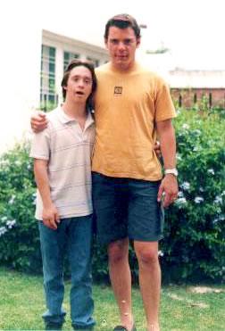 Iván con su amigo y ahijado: Rodrigo Gualandra